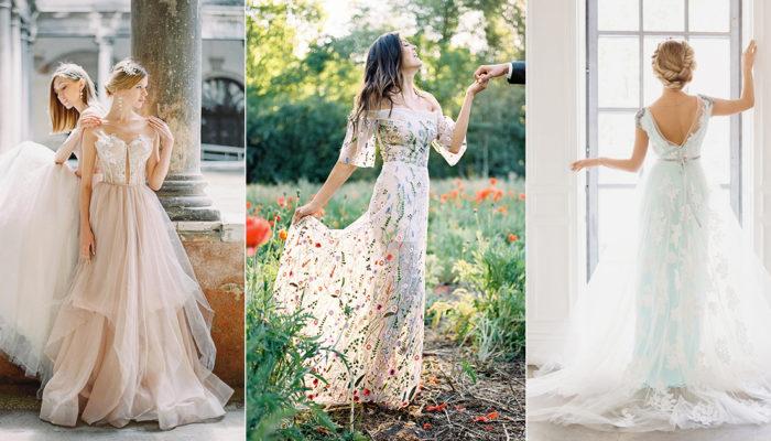買得起的華麗質感! 25件上網就能買得到的時尚刺繡婚紗禮服!