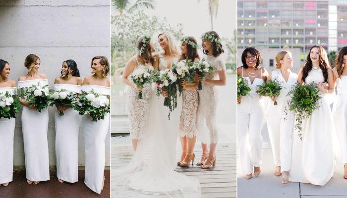 誰說伴娘不能穿白色? 17款白色伴娘禮服展現簡約時尚!