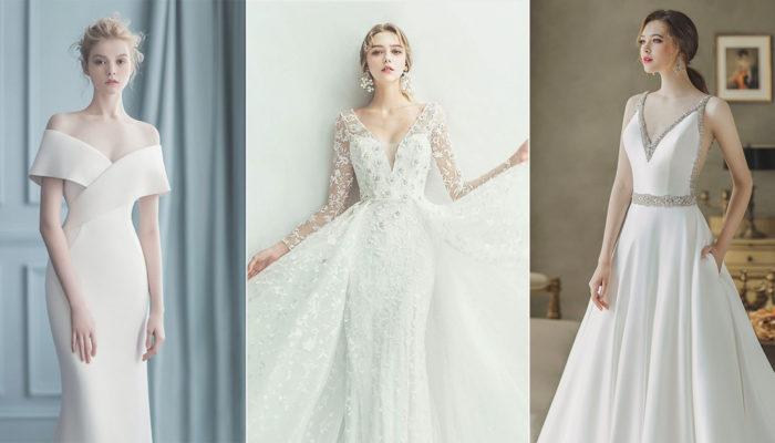 40件摩登女神的極簡婚紗,時尚細節與經典剪裁完美結合!