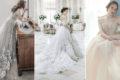 米白不再是經典的唯一選擇! 16件溫柔時尚Off White微白婚紗!