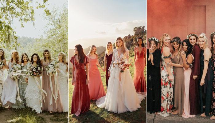 2019年伴娘禮服彷彿來自仙界! 6個時尚姊妹淘必懂的禮服潮流!