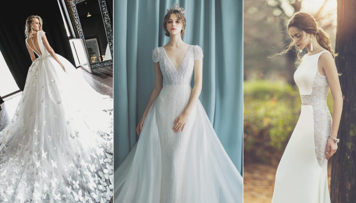 簡約中的小心機! 18件結合極簡與浪漫的別緻時尚婚紗!