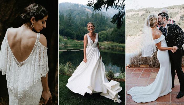 買得起的優質白紗 – 24件時尚女王的極簡婚紗!