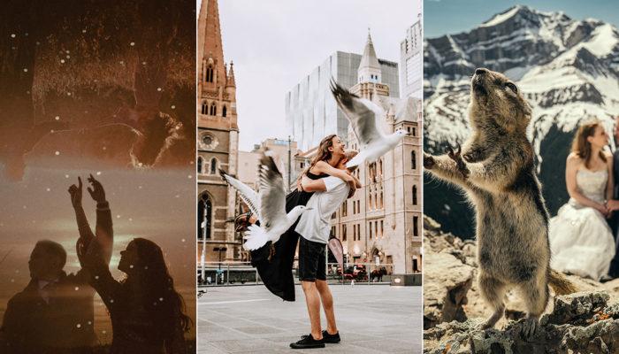 捕捉愛的奇蹟! 25張比電影畫面更令人讚嘆的奇景婚攝作品!