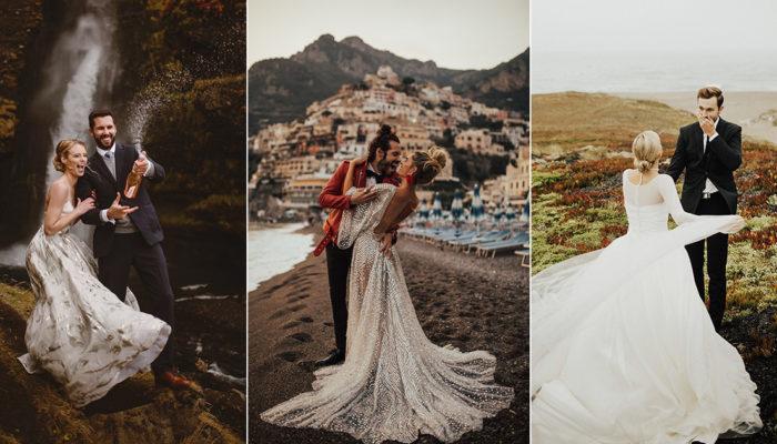 私奔婚禮潮流來襲! 6位浪漫新人必追蹤的私奔婚禮攝影師