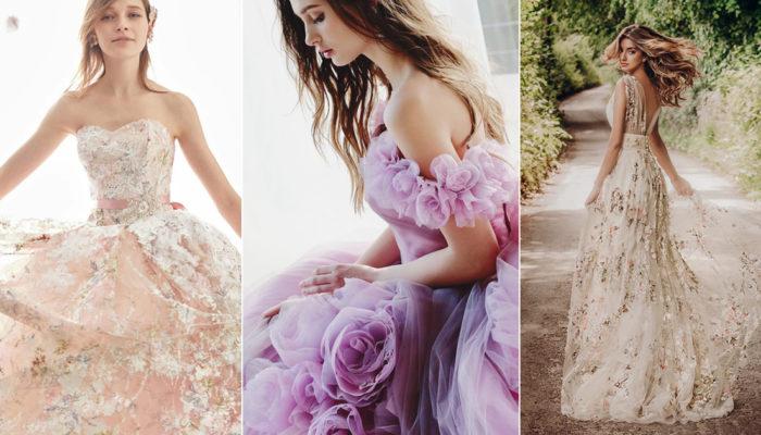 28件適合春夏新娘的浪漫花藝婚紗禮服