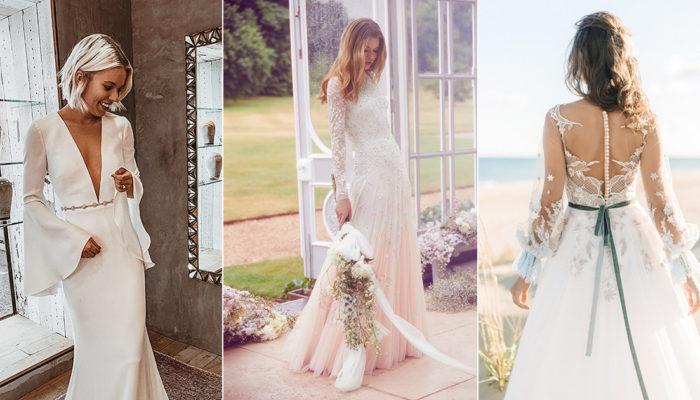美袖婚紗再升級! 24件時尚女王的有袖婚紗