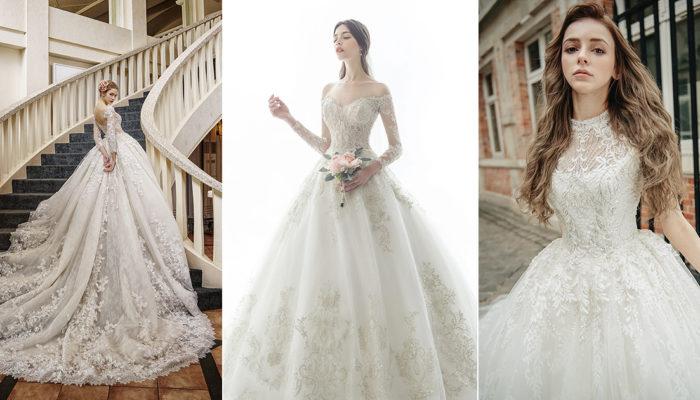 18件適合典雅貴族風婚禮場地的浪漫婚紗