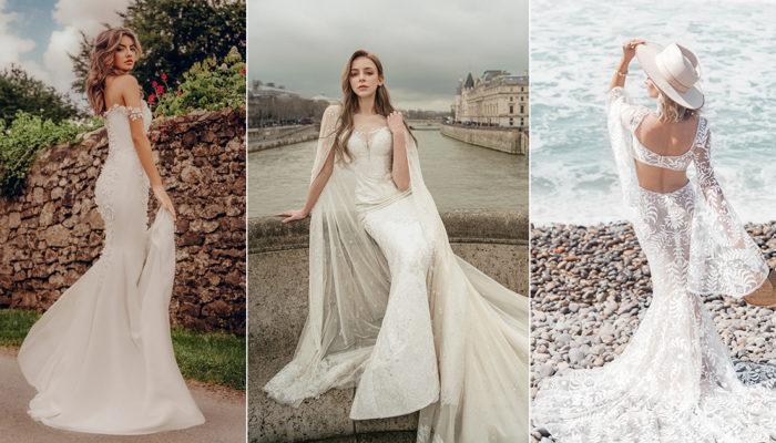 不愛澎裙的女神時代來臨! 15件秀出好身材的優雅合身婚紗