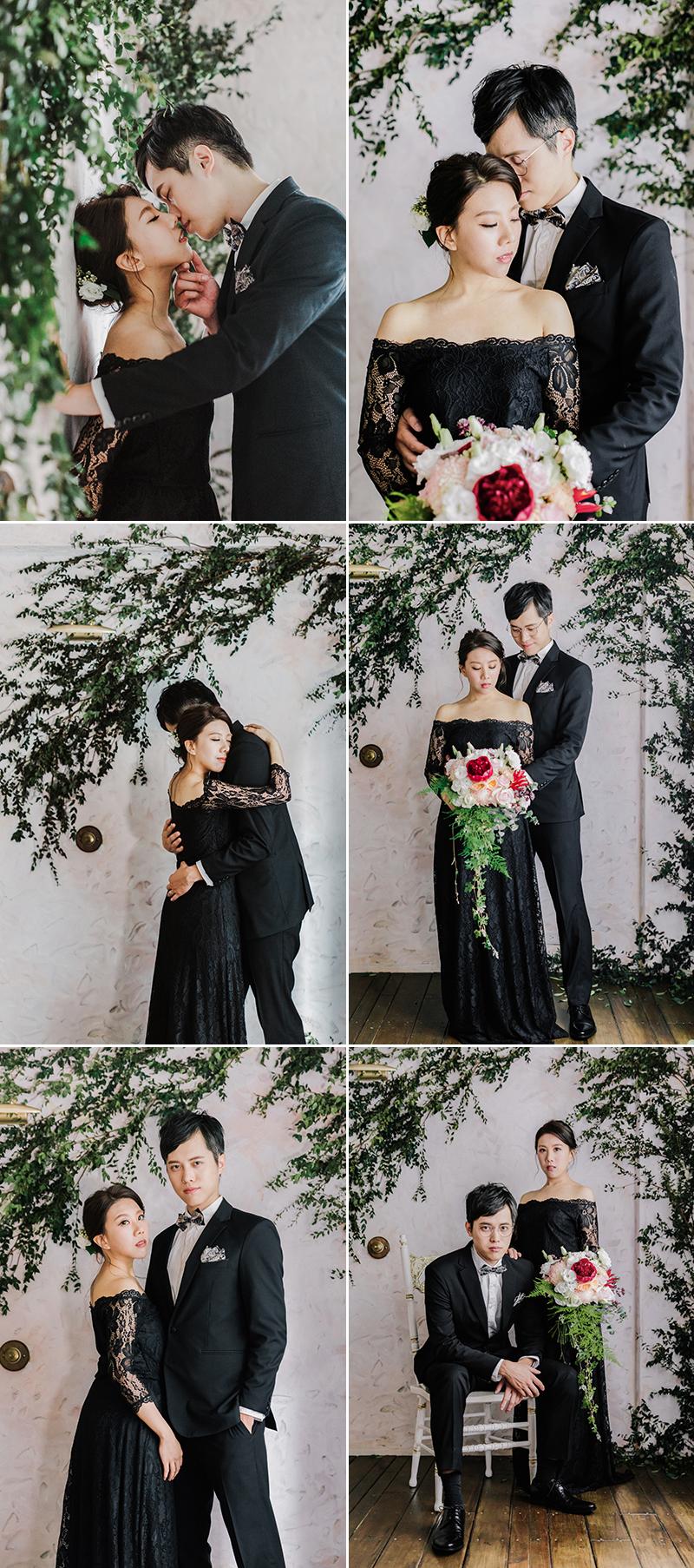 黑色美式婚紗