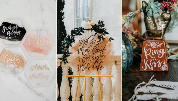 美式婚禮最浪漫的手寫溫度 – 西洋書法Calligraphy創意指南!