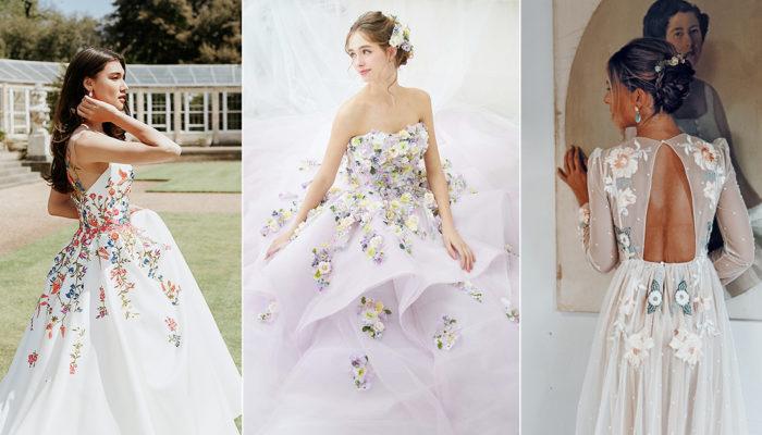 20件風靡IG的花卉婚紗 – 時尚新娘不可錯過的浪漫禮服