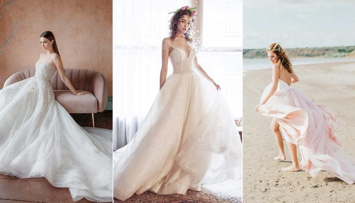 15件極簡輕柔童話婚紗,飄逸舞動浪漫情懷