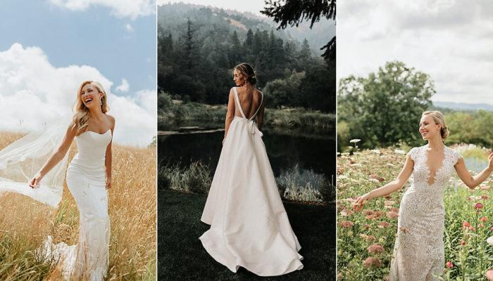 低调女孩的时尚光芒! 20件简约优雅气质婚纱