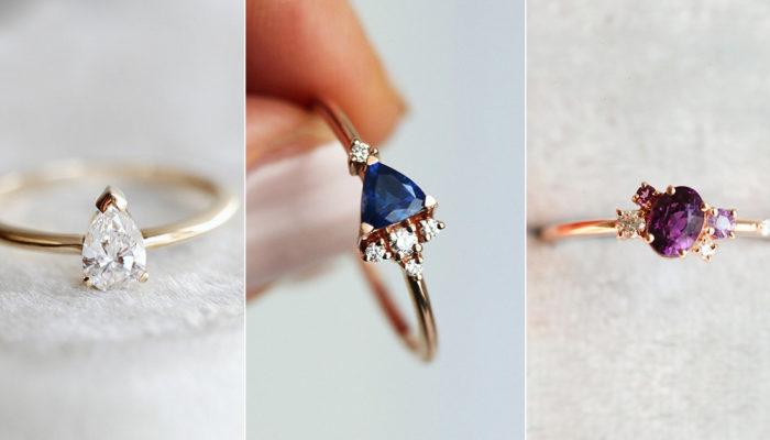 簡約婚戒打動時尚女孩心!  16款結合個性與浪漫的非傳統結婚戒指