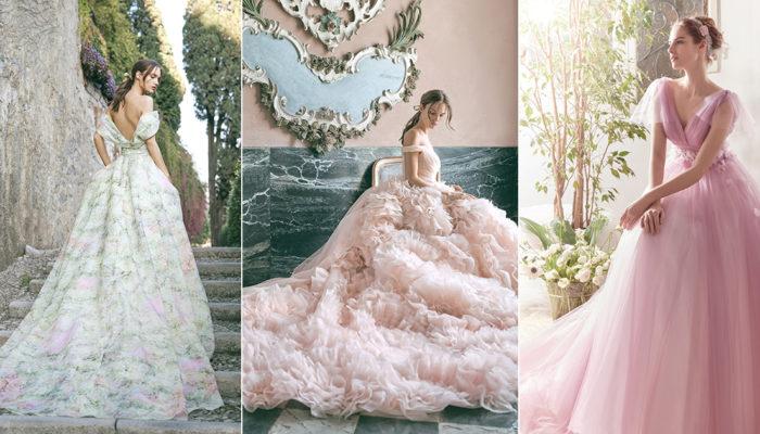 17 件夢幻復古彩色婚紗,實現超越時空的公主夢