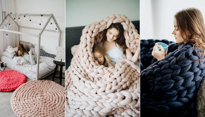 歐美IG爆紅夢幻粗毛線針織毯! 2019最溫暖的聖誕禮物!