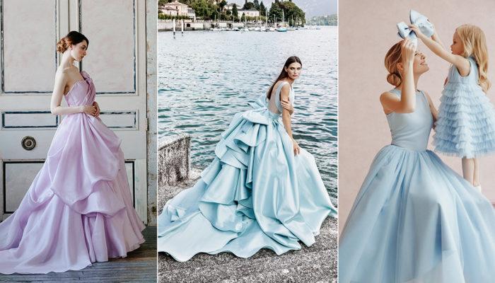 15件極簡經典彩色婚紗 – 王妃童話不是夢