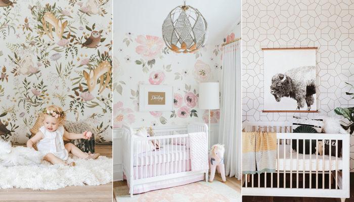 有品味的時尚嬰兒房! 10款打造出雜誌款寶寶房間的創意壁紙