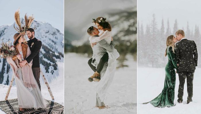 我們私奔吧! 7場冬季雪地私奔婚禮,浪漫媲美電影畫面