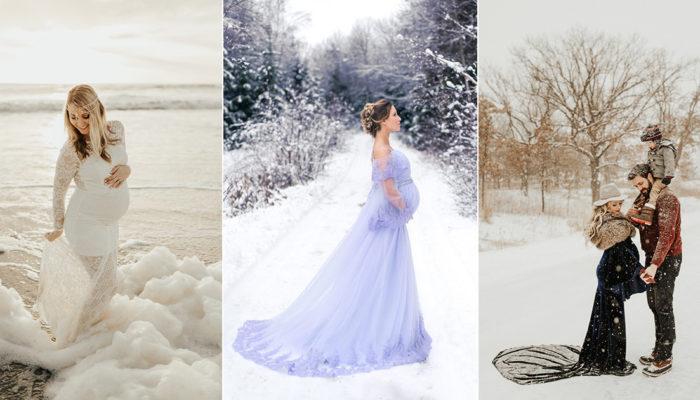 冬季限定! 5大歐美冬季孕婦寫真潮流,冰雪美景童話重現!