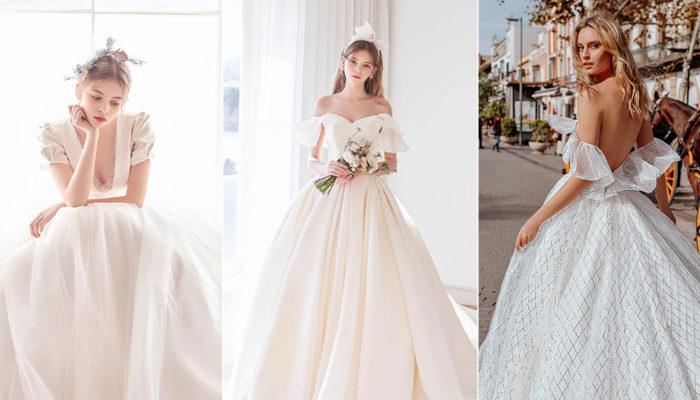 蓬裙婚紗也可以很有個性! 24件非公主風時尚蓬裙婚紗