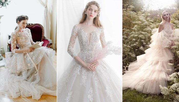真人版童話婚紗浪漫來襲,25件滿足輕熟少女心的夢幻禮服