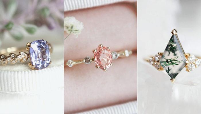 風靡千禧Y世代的彩色寶石求婚戒指 – 六大時尚婚戒潮流浪漫來襲