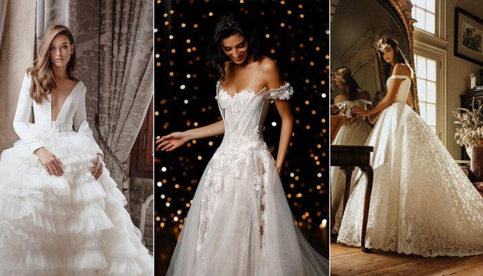 婚紗材質也可以玩混搭! 15件展現時尚層次感的華美工藝禮服