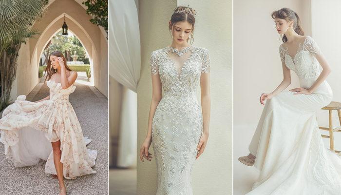 14件適合簡約小型婚禮的優雅婚紗,打造氣質滿分的溫柔光芒