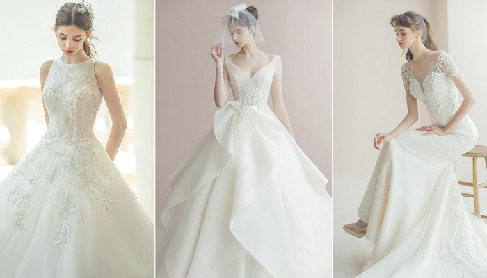 簡單不朽的美好 – 15件氣質與氣勢兼具的極簡經典浪漫婚紗