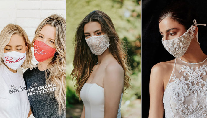 26款專為婚禮設計的夢幻口罩,新娘新郎親友都值得擁有的時尚飾品系口罩
