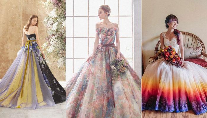 15件浪漫奇幻彩色婚紗禮服 – 超乎想像的創意混色魔法