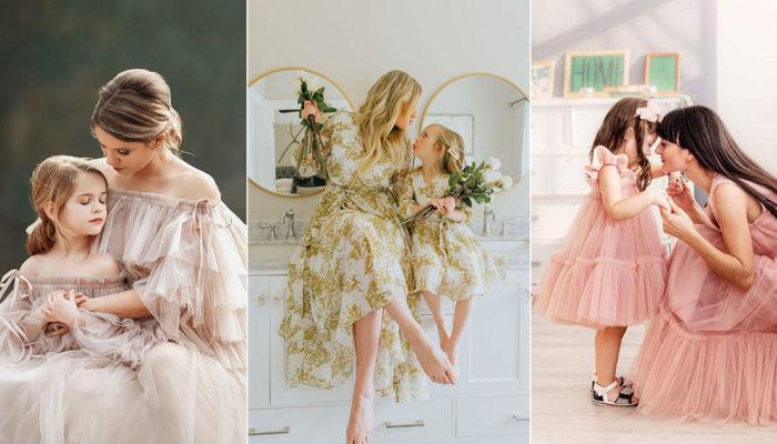 每個女寶媽夢想中的時尚母女裝! 11組歐美Mommy & Me時尚日常穿搭