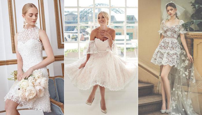 14件輕巧時尚短婚紗,同時展現女孩的純真與女人的魅力